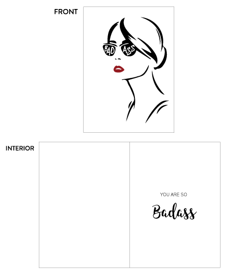 greeting card - Badass by sprinkledwithcolor