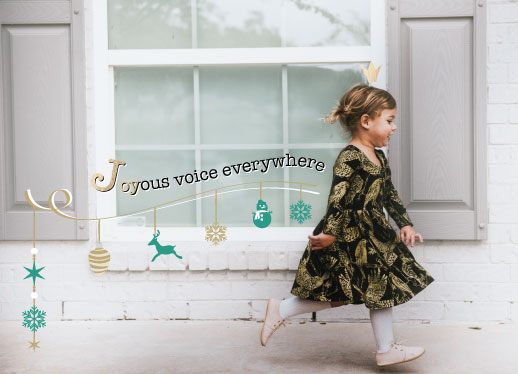 holiday photo cards - Joyous voice everywhere by Doris Sou