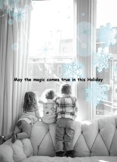 holiday photo cards - Magic comes true by Doris Sou