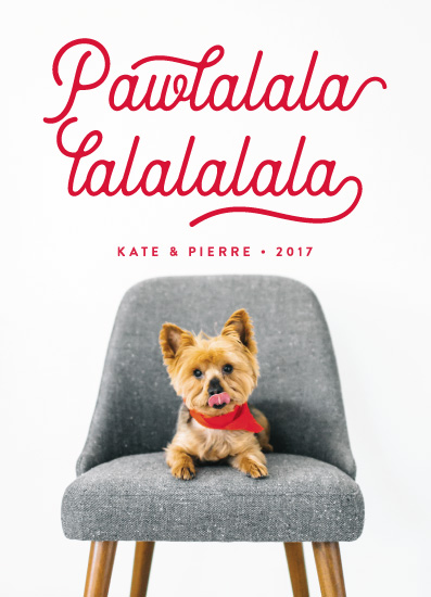 holiday photo cards - Pawlala by Olivia Raufman