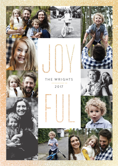 holiday photo cards - Sparkling Joy by Sarah Brown