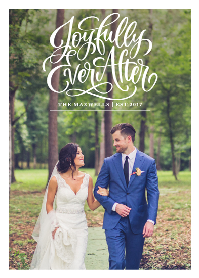 holiday photo cards - Joyfully Ever After by Laura Bolter Design