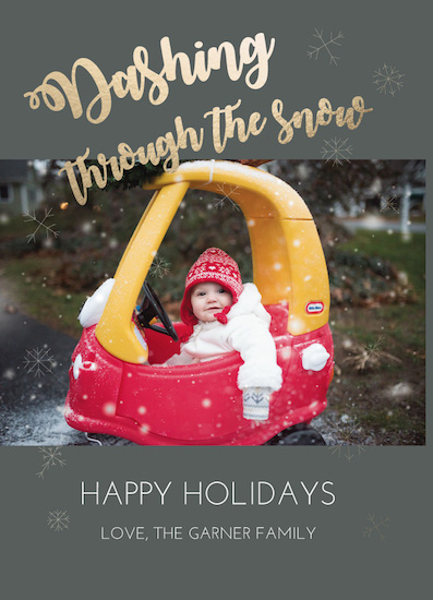 holiday photo cards - Dashing through the snow by Rachel Curtis