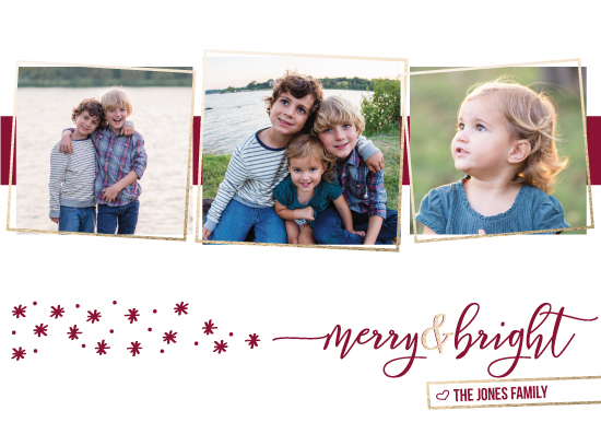holiday photo cards - merry&bright by Jen Fusaro