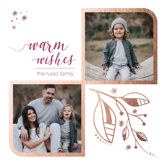 holiday photo cards - Rosey Wishes by Jen Fusaro