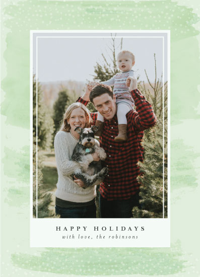 holiday photo cards - Watercolor Holidays by Mabe Design Co.