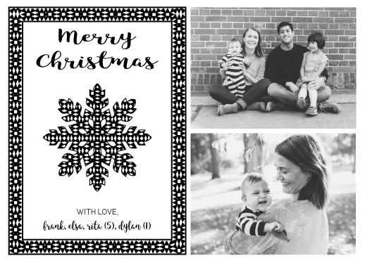 holiday photo cards - Graphic Snowflake by sprinkledwithcolor