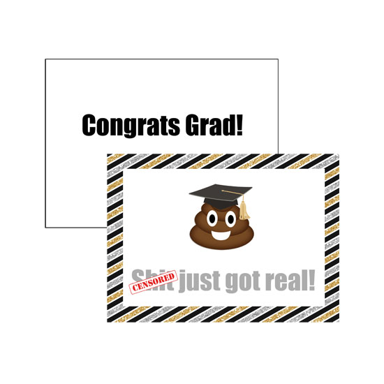 greeting card - Poop Emoji Graduation Congratulations Card by Amanda Wittenborn