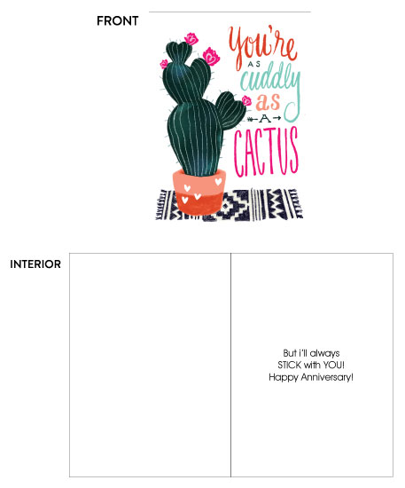 greeting card - Cuddly As a Cactus by Traci Sally