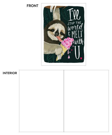 greeting card - Sloth Love card by Traci Sally
