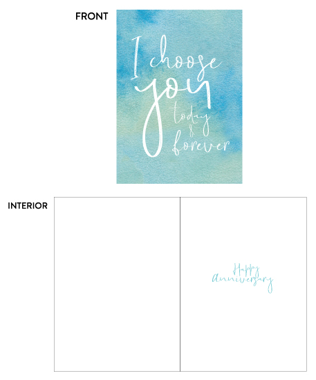 greeting card - I Choose You by Latitude Designs