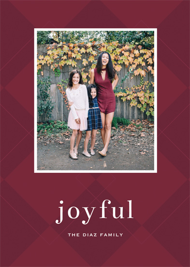 holiday photo cards - Joyful and Classic by Gray Star Design