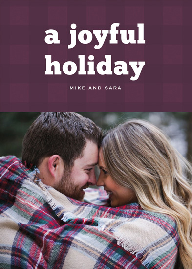 holiday photo cards - Joyful Plaid by Gray Star Design