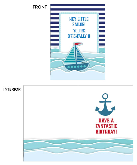 greeting card - Nautical  First Birthday Card by Camilla Acosta