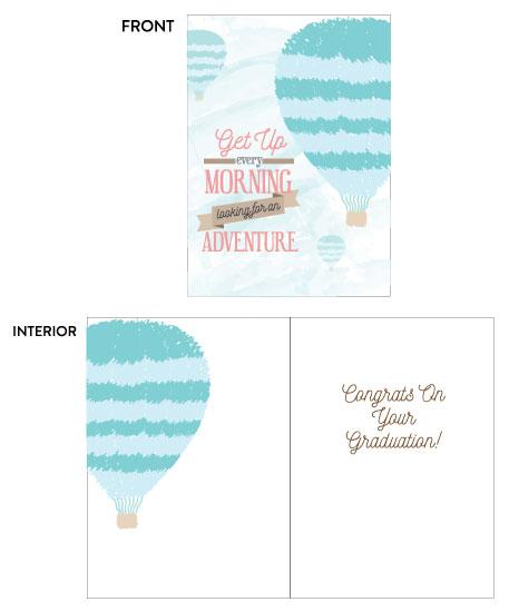 greeting card - Hot Air Balloons Graduation Card by Camilla Acosta