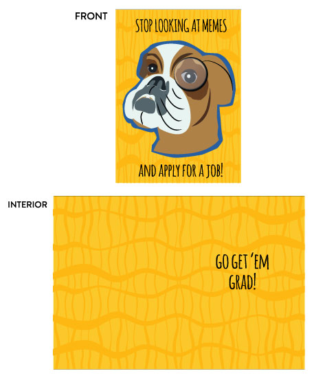 greeting card - Funny Dog in Glasses Graduation Card by Camilla Acosta