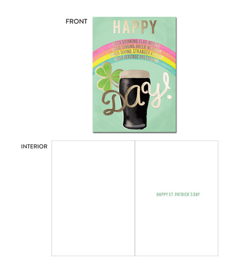 greeting card - Irish Heritage Pretending Day by Shanelle Lewis
