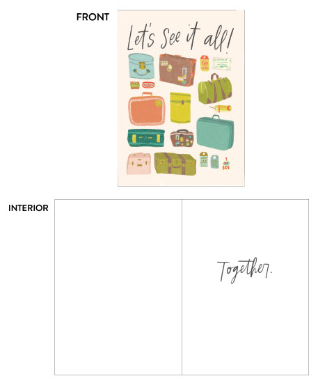 greeting card - Let's See it All by Vine and Thistle