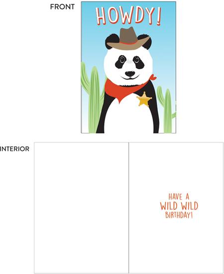 greeting card - A wild wild birthday! by lauren berkery