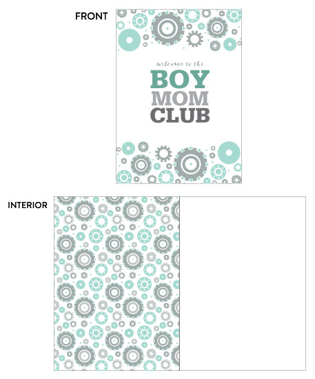 greeting card - Gears Baby Boy Shower Card by Camilla Acosta
