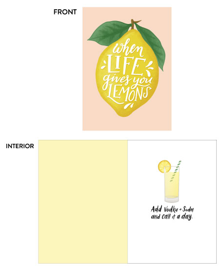 greeting card - Lemons by Pink House Press