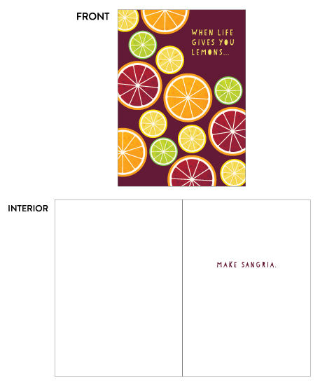greeting card - Sangria by Holly Whitcomb