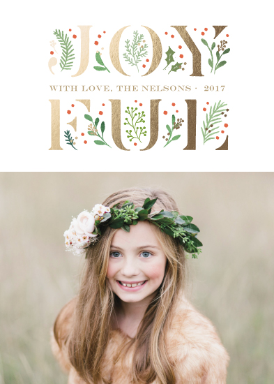 holiday photo cards - blooming joy by Jennifer Wick