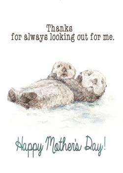 Mother's Day Otter Card