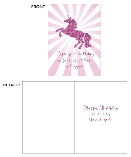 greeting card - Glitter & Magic Unicorn Birthday by Lily Wu