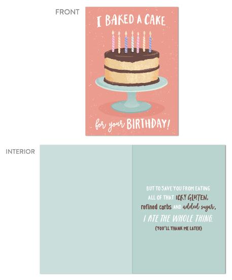 greeting card - Bake a Cake by Hooray Creative