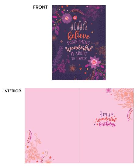 greeting card - Always Believe by Wendy Deubert