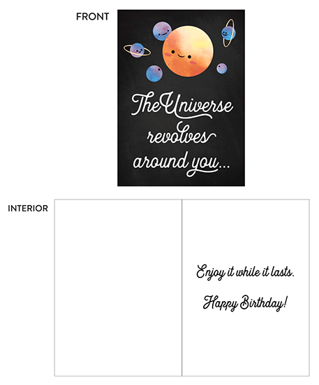 greeting card - Revolves Around You by Darren Bechtel