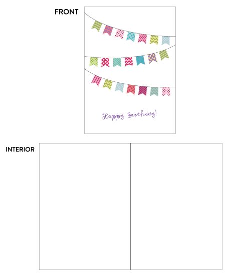 greeting card - Colorful Bunting Birthday by Lily Wu
