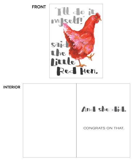 greeting card - Red Hen Rocks It by Karen Ritz