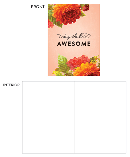 greeting card - Today Shall Be Awesome by Genna and Cara