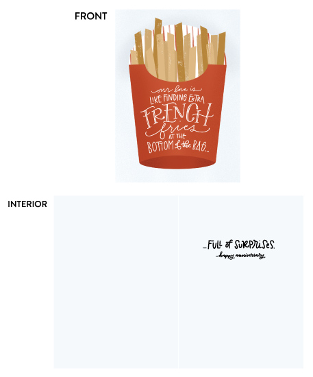greeting card - French Fries by Leah Bisch