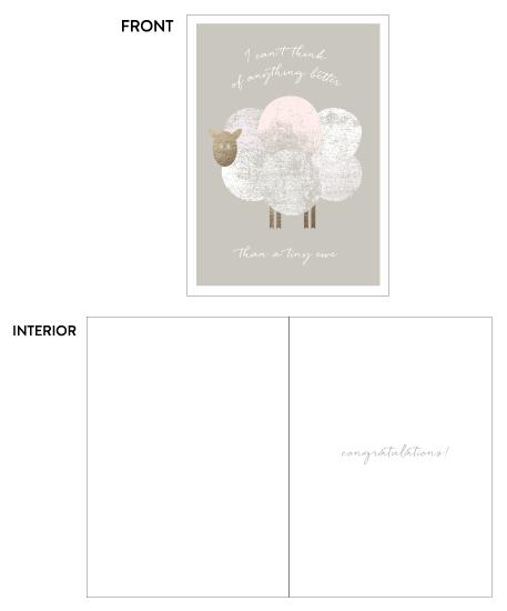 greeting card - Tiny Ewe by sue prue