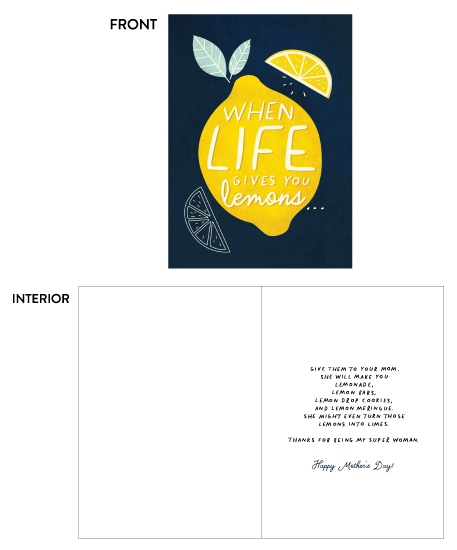 greeting card - Life's Lemons by Calico Hill Creative