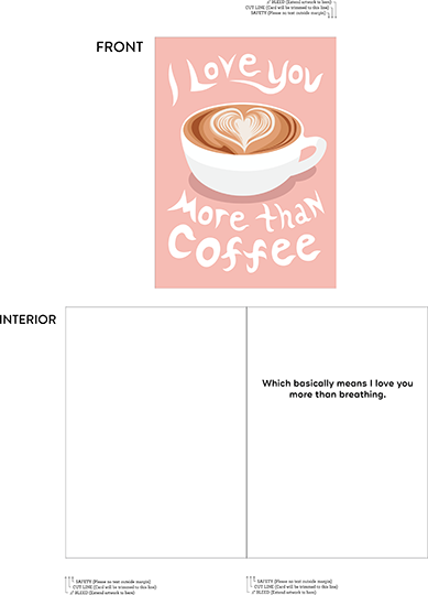 greeting card - Coffee Lovers by McKenna Pahl