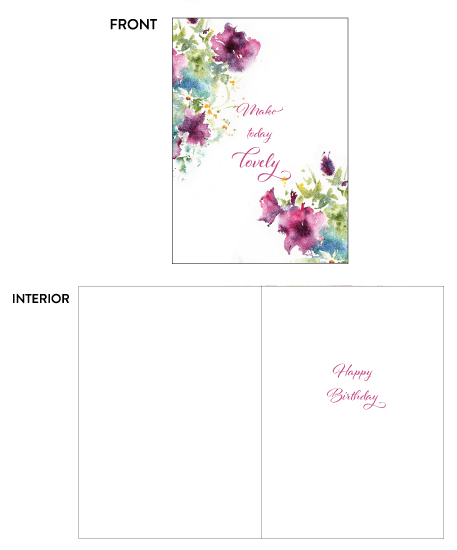 greeting cards - Lovely Day Flowers by Eva Marion
