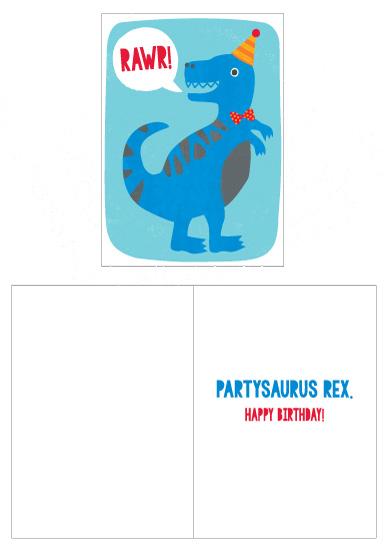 greeting cards - Partysaurus by Kristen Cavallo