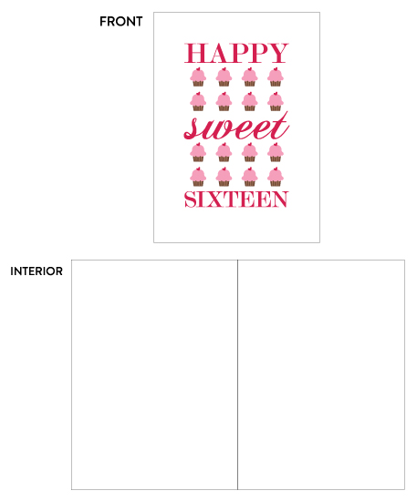 greeting card - Sweet 16 Cupcakes by Lily Wu