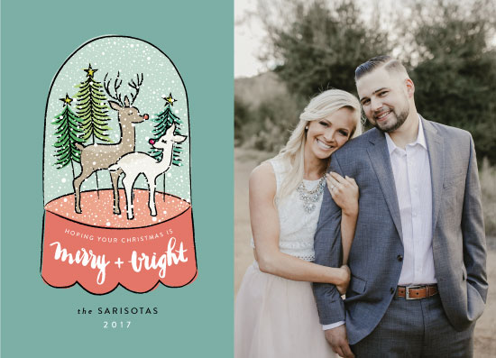 holiday photo cards - Stag + Doe by Penelope Poppy