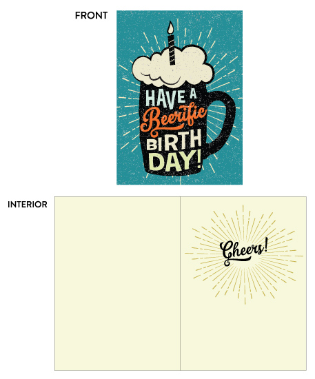 greeting card - Beerific Birthday by Coco and Ellie Design