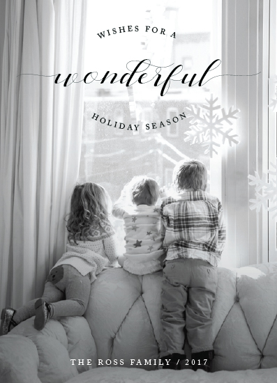 holiday photo cards - Wonder Window by Kate Ross