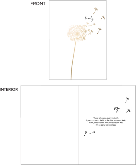 greeting card - The beauty of dandelion by Yuke Li