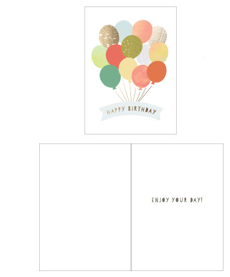greeting cards - Birthday Balloons by Katherine Moynagh