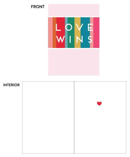 greeting card - Love Wins by Erin Matzen
