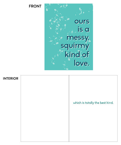 greeting card - Squirmy Love by Latitude Designs