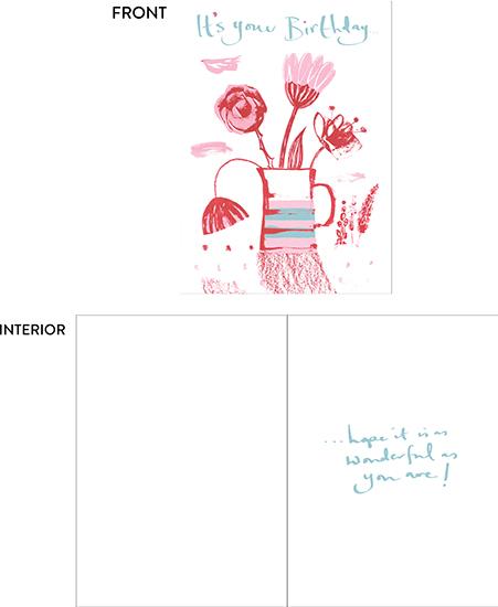greeting card - Birthday Fly Past by Gabriella Buckingham